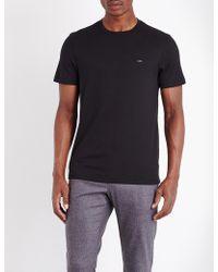 Michael Kors - Crewneck Cotton-jersey T-shirt - Lyst