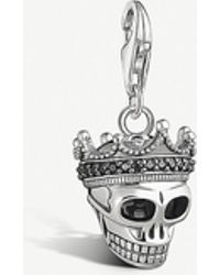 Thomas Sabo - Skull With Crown Sterling Silver Charm - Lyst
