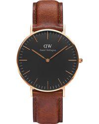 Daniel Wellington - Classic St. Mawes Rose Gold Watch - Lyst