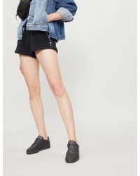 The Kooples - Stud-embellished Cotton-jersey Shorts - Lyst