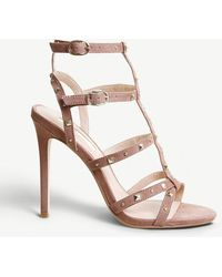 Office - Hightide Studded Faux-suede Sandals - Lyst