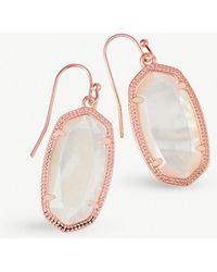Kendra Scott - Dani 14ct Rose Gold-plated Ivory Pearl Drop Earrings - Lyst