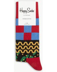 Happy Socks - Liquorice All-sorts Cotton-blend Socks - Lyst