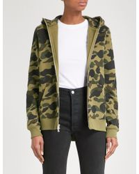 A Bathing Ape - Shark Camouflage-print Cotton-jersey Hoody - Lyst