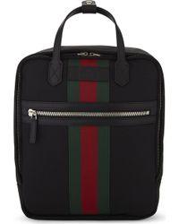 Gucci - Web Stripe Techno Canvas Backpack - Lyst
