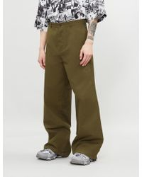 Balenciaga - Oversized Regular-fit High-rise Cotton Trousers - Lyst