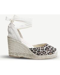 Office - Marmalade Canvas Espadrille Wedges - Lyst