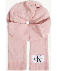 Calvin Klein - Basic Knitted Scarf - Lyst