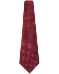 Armani - Micro-dot Silk Tie - Lyst