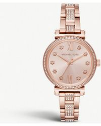Michael Kors - Mk3882 Sofie Cubic Zirconia And Rose Gold-toned Stainless Steel Watch - Lyst