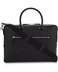 MCM - Otto Medium Monogram Leather Briefcase - Lyst
