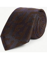 Fendi - Ff Print Silk Tie - Lyst