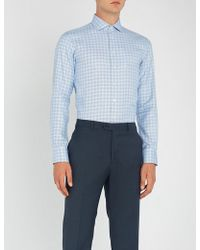 Smyth & Gibson - Checked Slim-fit Cotton Shirt - Lyst