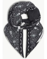 The Kooples - Music Print Wool-blend Scarf - Lyst