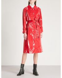 Mo&co. - Pvc Trench Coat - Lyst