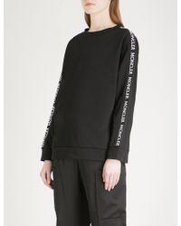 Moncler - Logo-panel Cotton-jersey Sweatshirt - Lyst