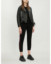 5bd9b3109f39 Lyst - The Kooples Black Leather Jumpsuit in Black