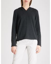 The White Company - Slouchy-fit Cotton And Cashmere-blend Hoody - Lyst