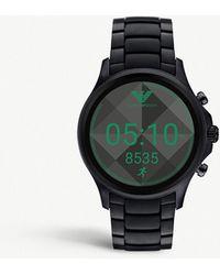 Emporio Armani - Art5002 Alberto Stainless Steel Smartwatch - Lyst