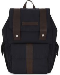 Brunello Cucinelli - Nylon And Leather Backpack - Lyst
