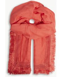 Claudie Pierlot - Lace Embroidered Scarf - Lyst