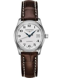 Longines - L2.257.4.78.3 Master Stainless Steel And Leather Watch - Lyst
