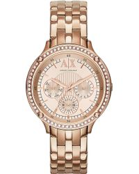 Armani Exchange - Ax5406 Rose Gold-toned Watch - Lyst