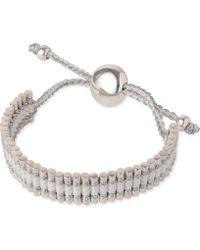 Links of London | Friendship Bracelet Pewter And White | Lyst
