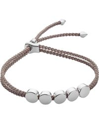Monica Vinader - Linear Bead Sterling Silver Friendship Bracelet - Lyst
