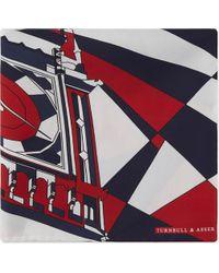 Turnbull & Asser - Big Ben Silk Pocket Square - Lyst