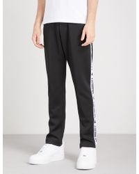 A Bathing Ape - Logo Tape Sports-jersey Jogging Bottoms - Lyst