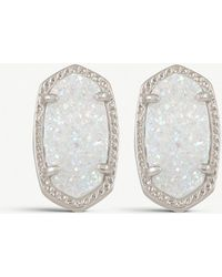 Kendra Scott - Ellie 14ct Silver-plated Iridescent Drusy Stud Earrings - Lyst
