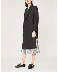 Toga - Pvc-panel Wool-blend Coat - Lyst