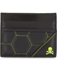 Philipp Plein - Above The Flood Leather Card Holder - Lyst