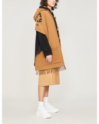Burberry - Helene Wool And Cashmere Cape - Lyst