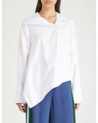 Peter Pilotto - Asymmetric Cotton-poplin Shirt - Lyst