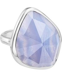 Monica Vinader - Siren Sterling Silver And Blue Lace Agate Nugget Cocktail Ring - Lyst