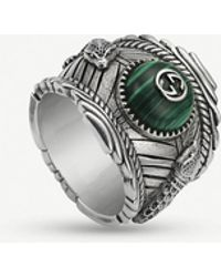 Gucci Garden Sterling Silver And Resin Ring