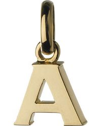 Links of London - Alphabet A 18ct Yellow-gold Charm - Lyst