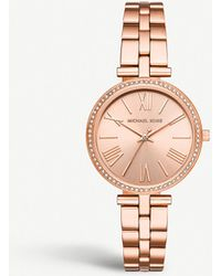 ec716331379e Michael Kors - Mk3904 Maci Rose-gold Plated Stainless Steel And Crystal  Embellished Watch -