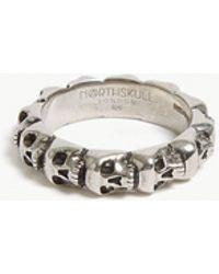 Northskull - Skull Ring Band - Lyst