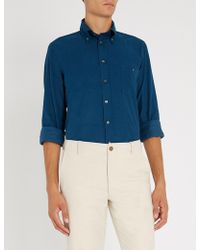 Richard James - Contemporary-fit Fine Needle Cotton-corduroy Shirt - Lyst