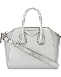 5517ecda18a Givenchy Antigona Two-tone Leather Shoulder Bag in Natural - Lyst
