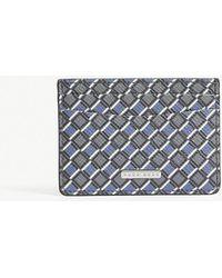 BOSS - Signature Diamond-print Leather Card Holder - Lyst