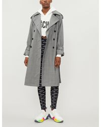 Mo&co. - Checked Wool-blend Trench Coat - Lyst