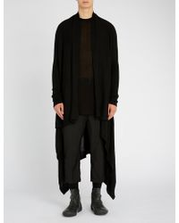 Rick Owens - Open-front Cashmere Cardigan - Lyst