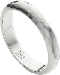 Monica Vinader - Alta Hammered Sterling Silver Thin Ring - Lyst