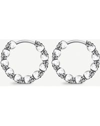 Thomas Sabo - Skull Mini Sterling Silver Hoop Earrings - Lyst