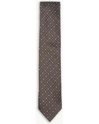 Eton of Sweden - Diamond-tile Pattern Silk Tie - Lyst