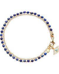 Astley Clarke - Evil Eye Lapis Friendship Bracelet - Lyst